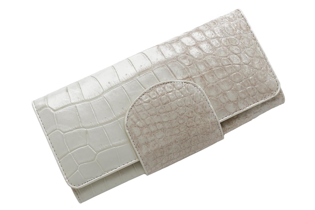 Кошелек из кожи крокодила Ekzotic Leather  Белый (cw 65_2)