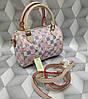 Женская сумка Louis Vuitton Луи Виттон мини качественная эко-кожа светлая