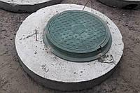 Плита перекриття посилена (дорожня) з люком заштраблена 1200*300 мм, фото 1