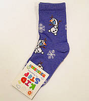 Детские носки новогодние хлопковые снеговик