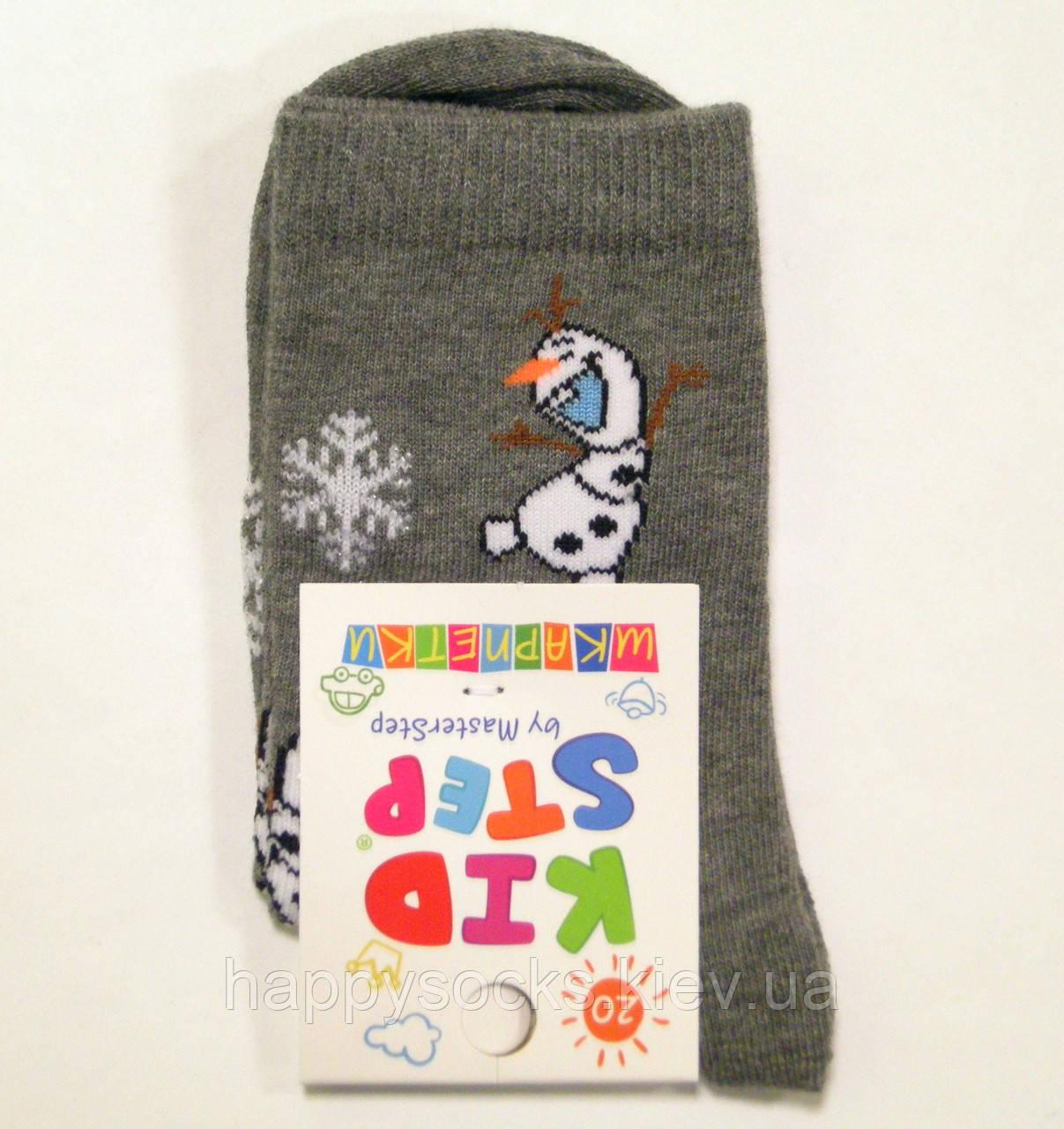 Хлопковые детские носки новогодние снеговик