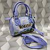 Женская сумка Louis Vuitton Луи Виттон мини качественная эко-кожа голубая