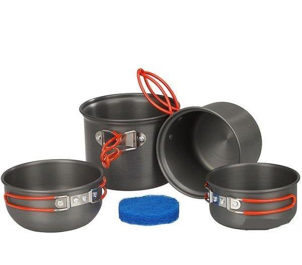 Набор посуды анодированной на 1-2 персоны Tramp (TRC-075)