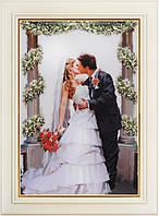 Набор для вышивки нитками в стиле Rococo ТМ «OLANTA» Поцелуй невесты R-002