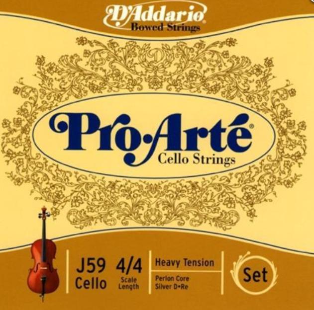 Струны для виолончели Размер 4/4 D`ADDARIO J59 4/4H Pro Arte 4/4H
