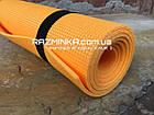 Коврик для йоги и фитнеса 5мм, оранжевый, фото 2