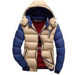 Мужская куртка - Осенняя мужская курточка, есть три кармана, на молнии, капюшон отстегивается, 46-54