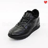 Мужские зимние кроссовки чёрные, фото 1