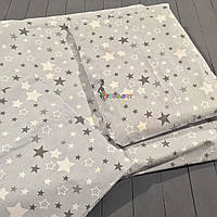 Постельный набор в детскую кроватку (3 предмета) Звездочка серый, фото 1
