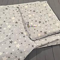 Постельный набор в детскую кроватку (3 предмета) Звездочка серый