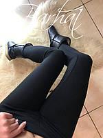 Лосины женские тёплые, Ткань - Дайвинг на МЕХУ! ,мод. 0212 ,Размеры - 42, 44, 46 ,2 цвета черный и меланж, фото 2