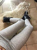 Лосины женские тёплые, Ткань - Дайвинг на МЕХУ! ,мод. 0212 ,Размеры - 42, 44, 46 ,2 цвета черный и меланж, фото 1