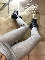 Лосины женские тёплые, Ткань - Дайвинг на МЕХУ! ,мод. 0212 ,Размеры - 42, 44, 46 ,2 цвета черный и меланж, фото 5