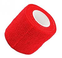 Бинт эластичный красный, бандажный, для держателей татуировочных машинок