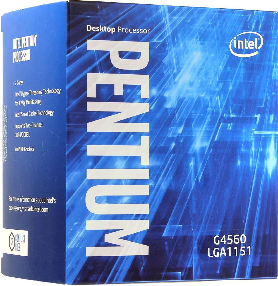 Процессор Intel Pentium G4560 (BX80677G4560) 4 потока 3.5GHz Socket 1151 Б/У
