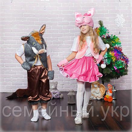 Детский новогодний костюм, Карнавальный костюм Хрюша  свинка свинья девочка, фото 2