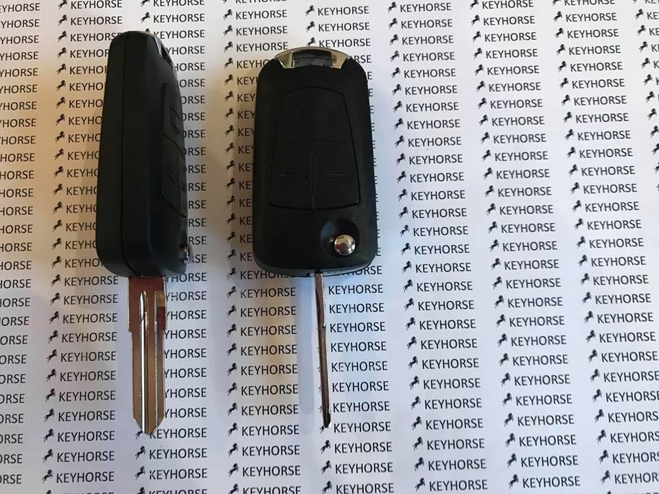 Корпус выкидного автоключа Opel (Опель) Corsa, Astra, Kadett, Monza, Montana, 3 кнопки, лезвие HU46