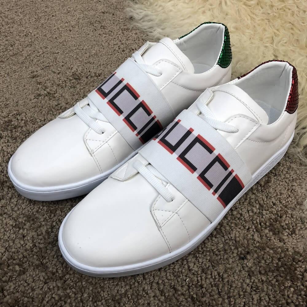 Gucci Stripe Sneaker White 0fd29a03a11ea