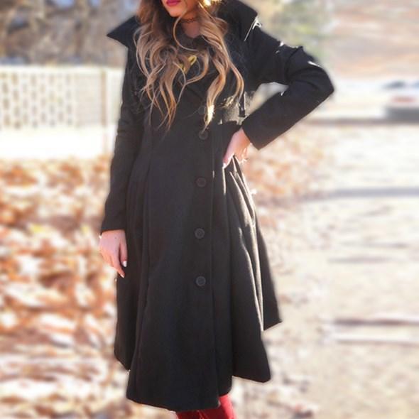 Осеннее женское пальто. Модель 18228