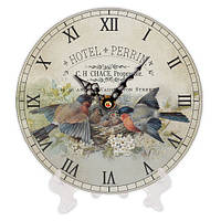 Часы настольные круглые Птички 18 см (CH18_F_15S017)