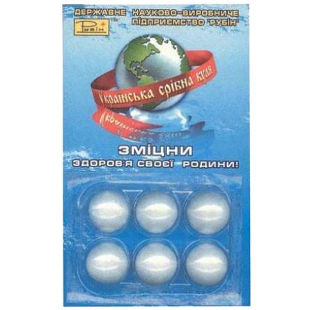 Серебряный шар для очистки воды, 6 шт