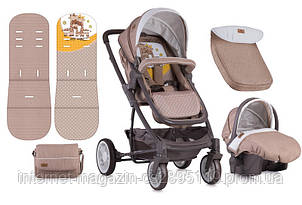 Детская коляска S-500 SET BEIGE&YELLOW HAPPY FAMILY