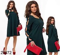 Вечернее платье с V-образным вырезом цвет бутылка 825872