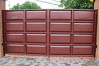 Распашные металлические ворота «Филёнка» (4 000×2 000 мм)