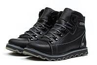 Мужские зимние кожаные ботинки CAT Expensive Black Night (реплика), фото 1
