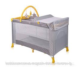 Кровать - манеж VERONA 2 LAYERS PLUS GREY&YELLOW