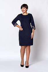 Шикарное женское платье с вышитыми рукавами, 50,52,54,56