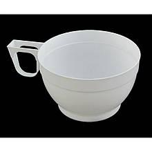 Чашка 180мл біла, коричнева 30шт