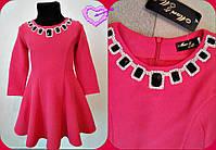 Красивое платье для девочки,Мод.0623-1,Декор дорогие камни,Рост:116см,122см,128см,4 цвета, фото 2