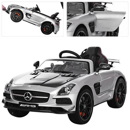 Детский электромобиль Mercedes-Benz M 2760 EBLRS-11-2: 2.4G. EVA-колеса,-СЕРЕБРО КАРБОН ПОКРАСКА- купить оптом