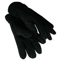 Перчатки зимние мужские двойные флисовые черные