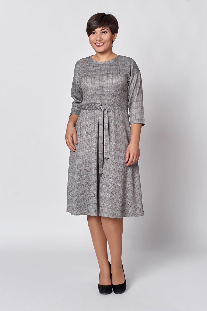 4bf28efa96f Женское трикотажное платье расклешенное к низу