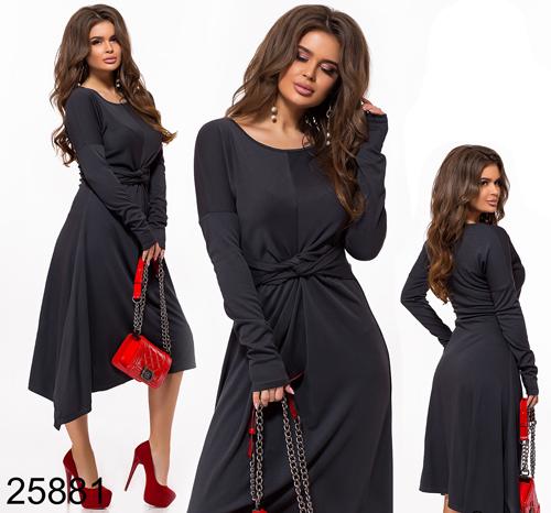 Вечернее платье элегантное темно-серый 825881