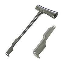 Нож долото для продольного рассечения грудины по Lebsche. Длина 24,5 см