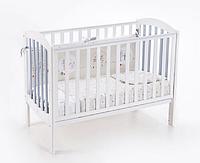 Детская кроватка Верес Соня ЛД 10 маятник (бело-серый)