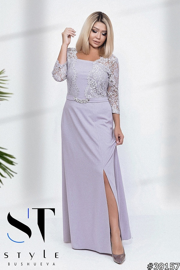 8456d90e3e5 Платье женское нарядное в пол батал (с 48-58 размера) - Розничный интернет