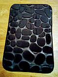 Плюшевый коврик «Галька» 40×60 см черный, фото 5