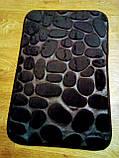 Плюшевый коврик «Галька» 40×60 см черный, фото 6