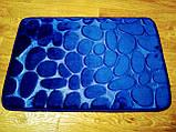 Плюшевый коврик «Галька» синий 50×80 см, фото 2