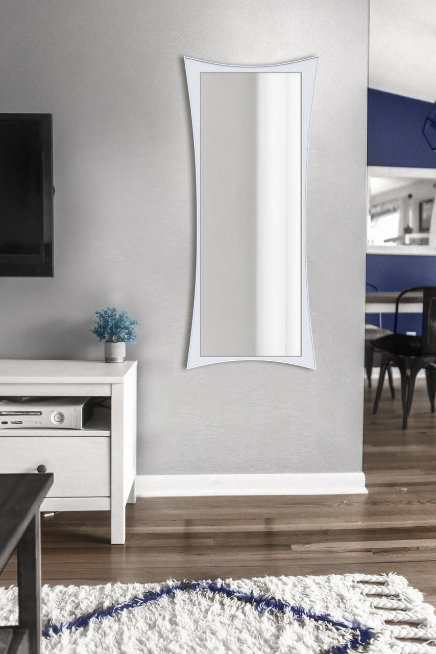 Зеркало настенное, белое 1300х550