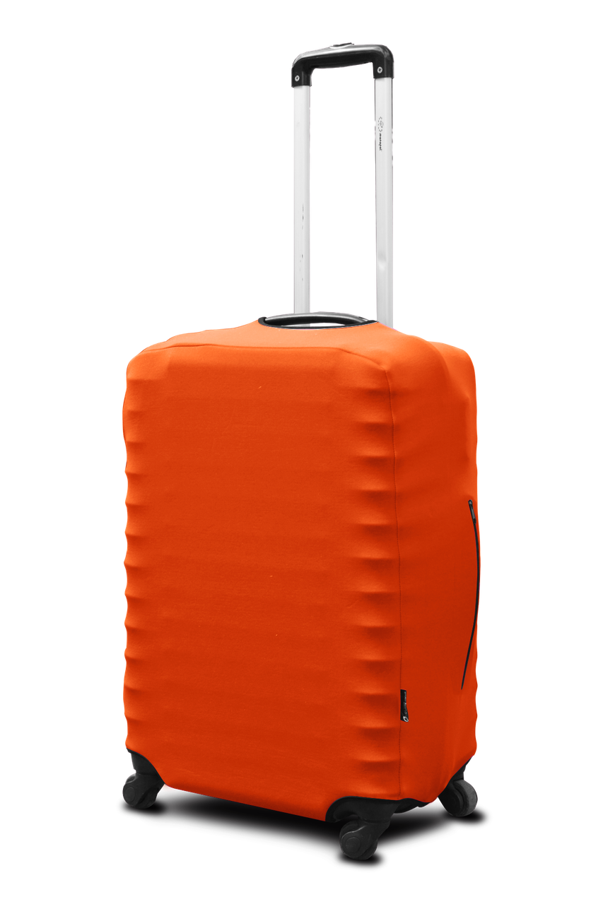 Чехол для чемодана Coverbag из неопрена, размер L (большой) оранжевый неон)