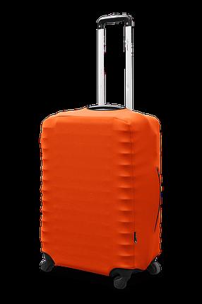 Чехол для чемодана Coverbag из неопрена, размер L (большой) оранжевый неон), фото 2