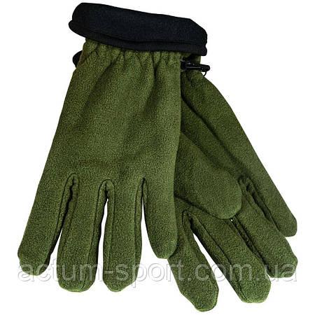 Перчатки зимние мужские двойные флисовые хаки