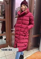 Куртка зимняя женская удлиненная 1346 Ол