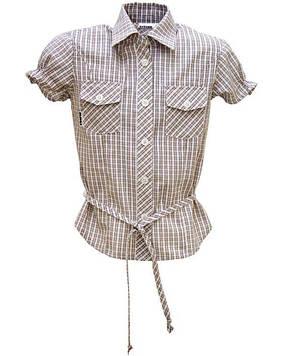 Блуза Bebepa 98 cm белый, коричневый (NE-18.08.67_White-Brown)