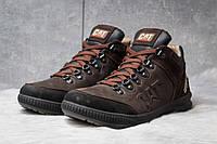 Зимние ботинки на меху CAT Caterpilar, коричневые (30801),  [  40 42  ]